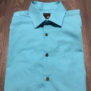 J. Ferrar Slim Fit 16-16 1/2, 32-33 Baby Blue